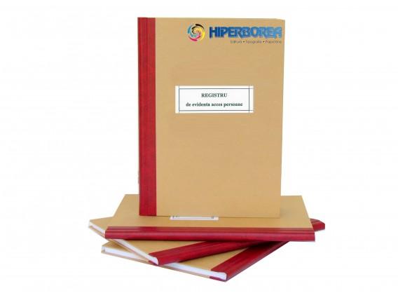 Registru de evidenta acces persoane, coperta tare caserat cu hartie
