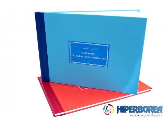 Registrul declaratiilor de interese, coperta carton gros-hartie