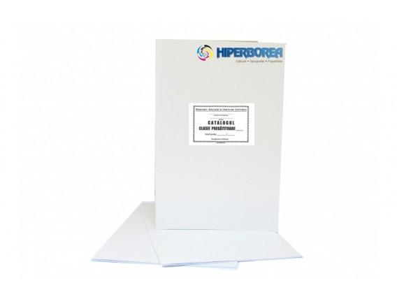 Catalog pregătitoare, coperta carton duplex