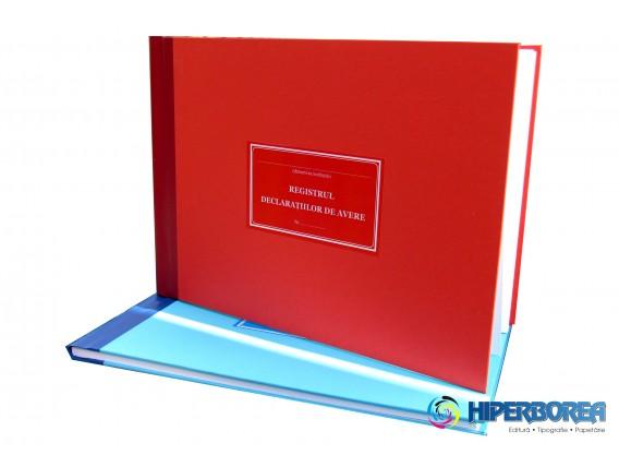 Registru declaratiilor de avere, coperta carton gros-hartie