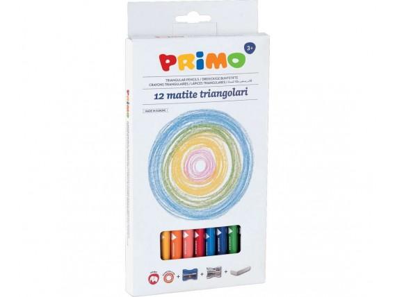 Creioane colorate Primo cu 3 accesorii