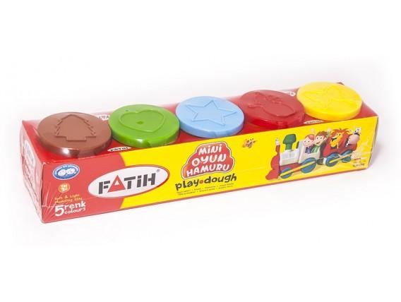 PLASTILINA USOARA PLAY DOUGH 5X50 GRAME FATIH