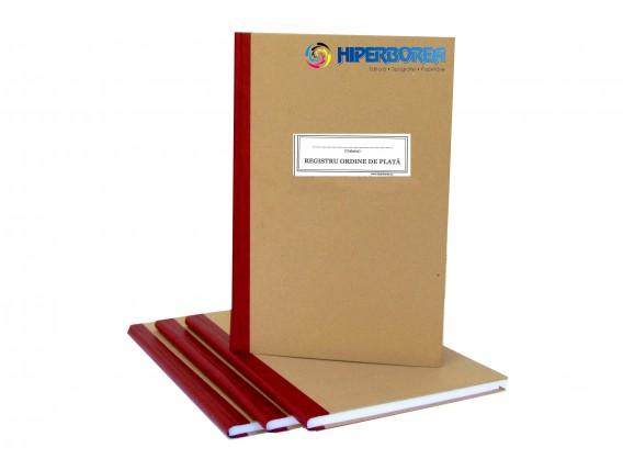 Registru ordin de plata, coperta carton gros-hartie