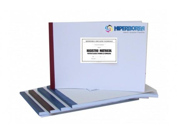 Registru matricol pentru învăţământ primar şi gimnazial, coperta carton duplex