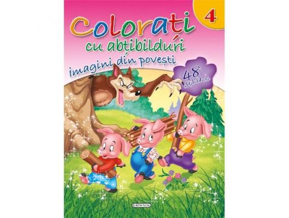 Colorati cu Abtibilduri  Nr.4 - Imagini din Povesti