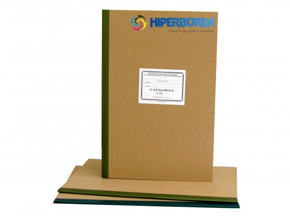 Catalog primar, coperta carton gros-hartie