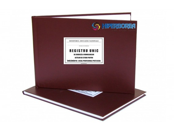 Registru unic evid. inv. liceal, coperta carton-imitatie piele