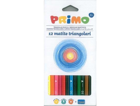 Creioane colorate Primo + 1 ascutitoare