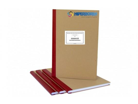 Condică pentru evidenţă cadre didactice, coperta carton gros-hartie