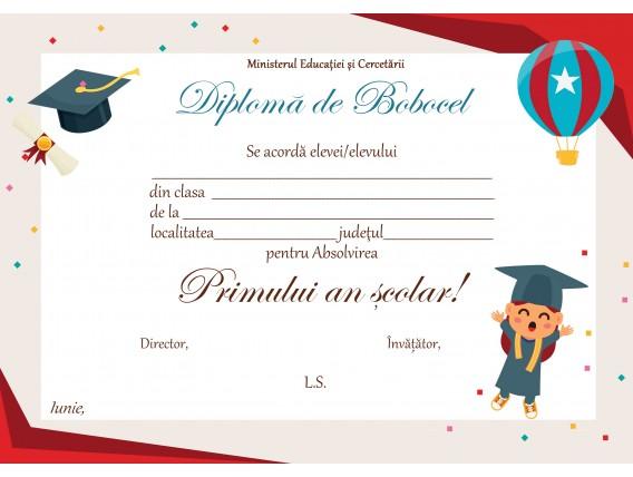 A_01 Diploma Bobocel clasa Pregatitoare