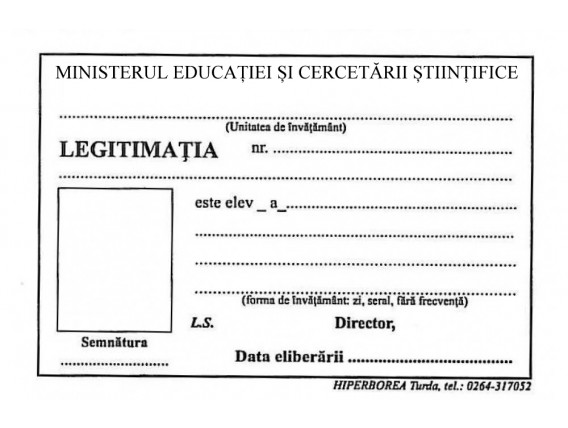 Legitimaţie de elev