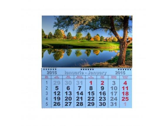 Calendar de perete cu spirala 2019