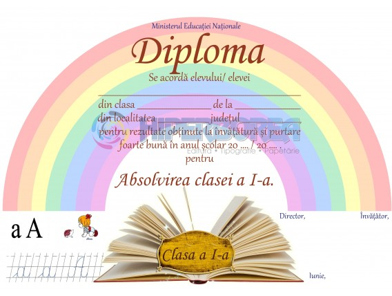 A_4 Diploma Premiu cl. a 1-a