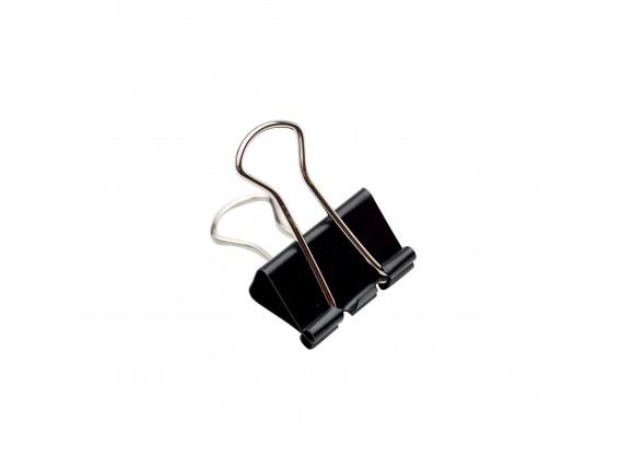 Clips negru 25mm - 12 buc/cutie