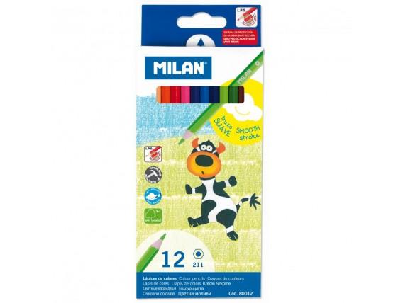 Creioane Colorate Milan, 12 Nuante