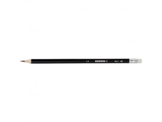 Creion grafit Kores cu radiera