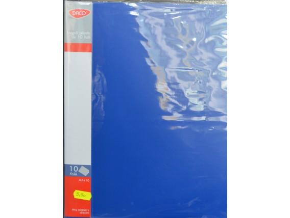 Mapa plastic cu 10 folii Daco
