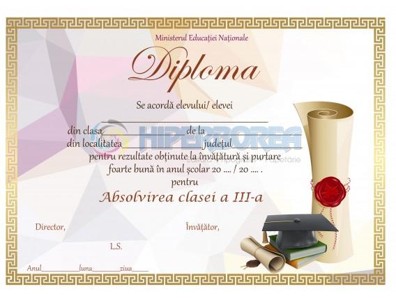 A_7 Diploma Premiu cl. a 3-a