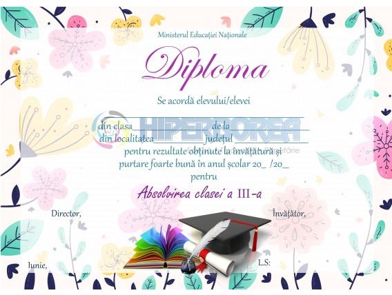 A_08 Diploma Premiu cl. a 3-a