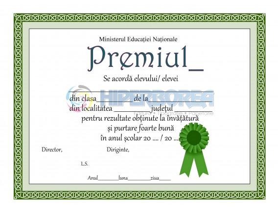 A_9 Diploma de acordare a premiului
