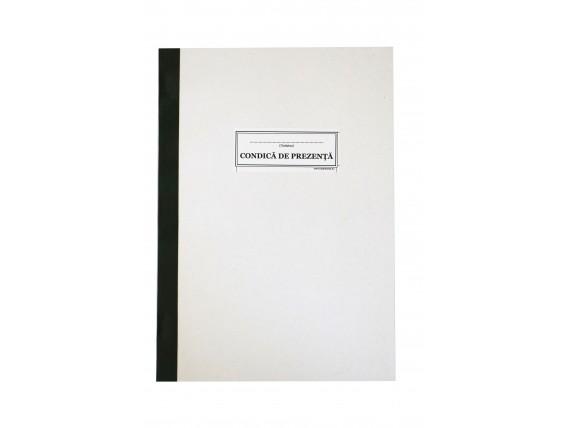 Condică de prezenţă administrativă, coperta carton duplex