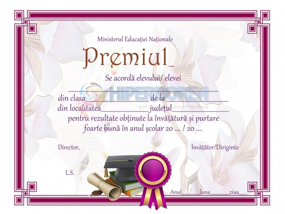 A_17 Diploma de acordare a premiului