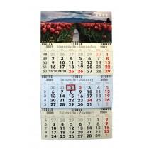 Calendar de perete triptic pliabil cu spirala 2020
