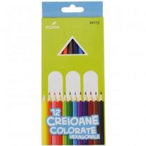 Creioane colorate Ecada, 12 Nuante
