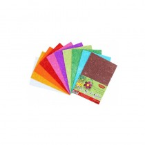 Hartie gumata glitter 10 culori