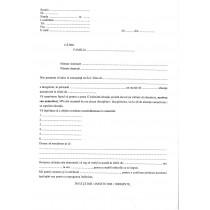 Adresa de înştiinţare a părinţilor privind situaţia şcolară a elevului