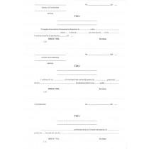 Scrisoare de solicitare a foii matricole